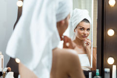 Preparation before make-up Royalty Free Stock Images