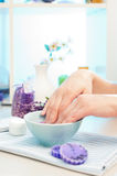 Preparation for manicure Stock Photos