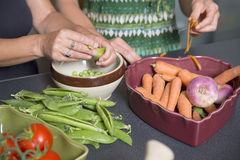 Preparation of meals Stock Image