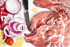 Preparation of meat royalty free stock photography