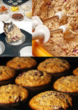 Preparation of muffins Stock Images