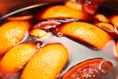 The preparation of mulled wine. At home Stock Photography