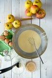 Preparation of pancake batter Royalty Free Stock Photo