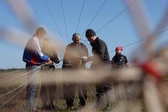 Preparation parachutists Royalty Free Stock Photography