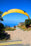 Preparation for Paragliding flight Royalty Free Stock Photos