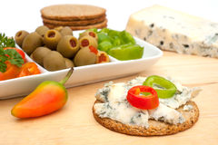 Preparation of party snacks Stock Photos