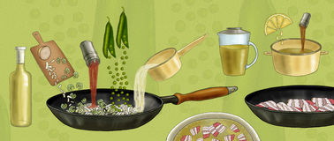 Preparation of pea soup Royalty Free Stock Image