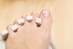 Preparation for a pedicure Stock Photos