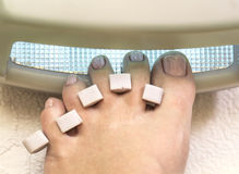 Preparation for a pedicure Royalty Free Stock Image