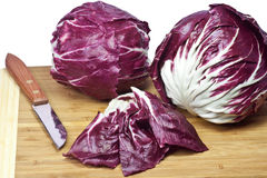 Preparation of radicchio Royalty Free Stock Photos