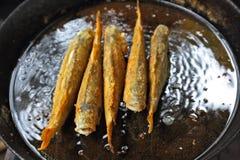 Preparation of river fish Royalty Free Stock Image