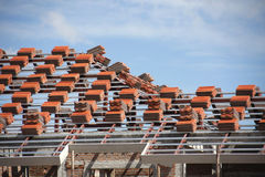 Preparation roof tile Stock Image