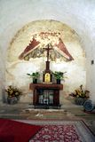 The Preparation Room. Priest preparation room on side of main chapel with small altar Royalty Free Stock Photo
