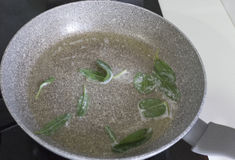 Preparation of sage and butter Stock Images