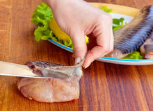 Preparation salted fish Royalty Free Stock Images