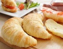 Preparation of  Savoury Croissants. Royalty Free Stock Photos