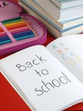 Preparation for school Stock Photography