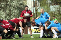 Preparation for scrum - czech rugby league Royalty Free Stock Photos
