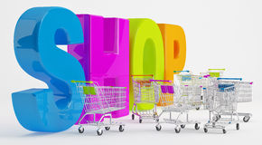 Preparation for Shopping Royalty Free Stock Photo