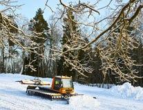 Preparation of the ski track Royalty Free Stock Photo