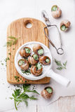 Preparation of snails Royalty Free Stock Photography