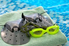 Preparation for swimming Royalty Free Stock Photos