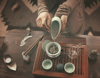 Preparation for tea ceremony Royalty Free Stock Images