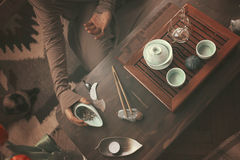 Preparation for tea ceremony Stock Photography
