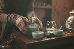 Preparation for tea ceremony Royalty Free Stock Photo