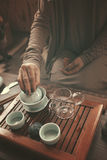 Preparation for tea ceremony Royalty Free Stock Image