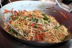 Preparation of thai noodles Royalty Free Stock Photos