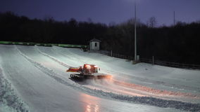Preparation of the track for tubing.  stock video
