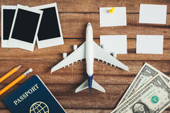 Preparation for Traveling concept and to do list. Stock Photos