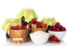 Preparation of various berries Stock Photos
