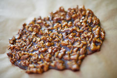 Preparation of walnut brittle Royalty Free Stock Images