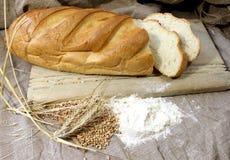 Preparation of white bread Stock Photo