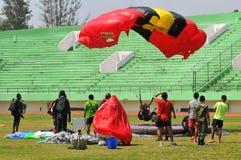 Preparation of World Military Parachuting Championship Royalty Free Stock Photo