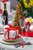 Preparations for Christmas dinner Royalty Free Stock Photo