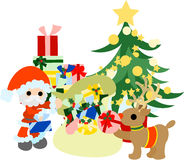 Preparations for Christmas presents Royalty Free Stock Images