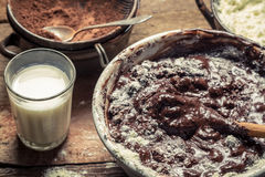 Free Preparations For Making Homemade Chocolate Stock Images - 30252264