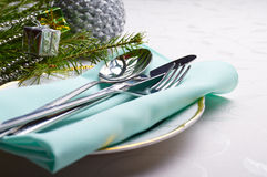 Preparations for holiday dinner Stock Photography