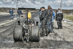 Preparations for the race car racing Stock Image