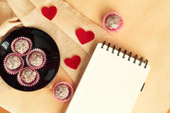 Preparations for Valentine`s Day Stock Images