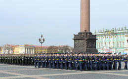 Preparations for the Victory Day Parade. St.Petersburg, Russia Royalty Free Stock Photos