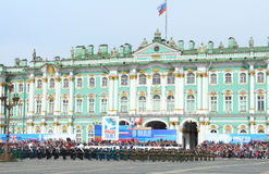 Preparations for the Victory Day Parade. St.Petersburg, Russia Stock Photo