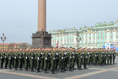 Preparations for the Victory Day Parade. St.Petersburg, Russia Stock Image