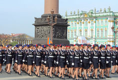 Preparations for the Victory Day Parade. St.Petersburg, Russia Stock Images