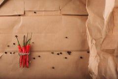 Preparato colorato dei peperoni con peperoncino Fotografie Stock