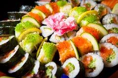 Preparato dei sushi Fotografie Stock