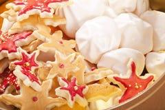 Preparato del biscotto di natale Fotografie Stock